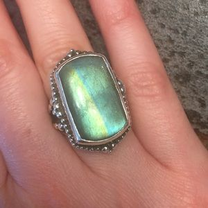 Stephen Dweck Labradorite And Sterling Ring